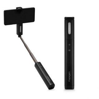 Spigen S550W prémium szelfibot + tripod állvány Bluetooth kioldóval és vakuval - fekete