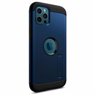 Spigen Tough Armor iPhone 12 / 12 Pro ütésálló tok - kék