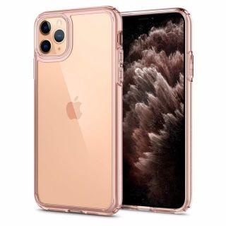 Spigen Ultra Hybrid iPhone 11 Pro ütésálló tok - rózsaszín/átlátszó