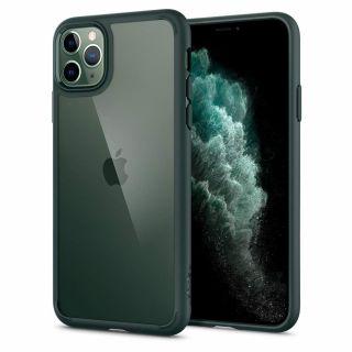Spigen Ultra Hybrid iPhone 11 Pro ütésálló tok - zöld/átlátszó