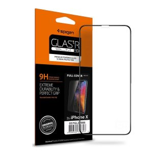 Spigen GLAS.tR SLIM Full Cover iPhone 11 Pro / XS / X teljes kijelzővédő üveg