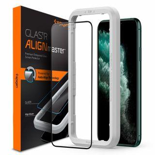 Spigen GLAS.tR AlignMaster Full Cover iPhone 11 Pro Max / XS Max teljes kijelzővédő üveg + felhelyező
