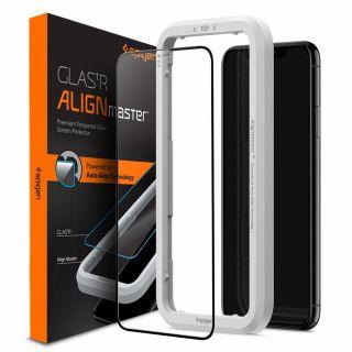 Spigen GLAS.tR AlignMaster Full Cover iPhone 11 / XR teljes kijelzővédő üveg + felhelyező