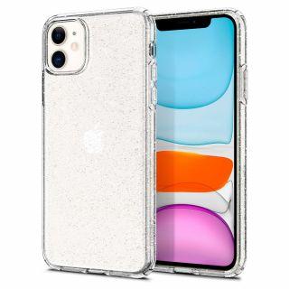 Spigen Liquid Crystal Glitter iPhone 11 tok - átlátszó
