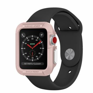 Spigen Rugged Armor Apple Watch 42mm 1/2/3 tok - rózsaszín