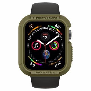 Spigen Rugged Armor Apple Watch 44mm tok - zöld