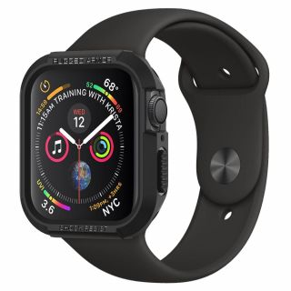 Spigen Rugged Armor Apple Watch 40mm tok - fekete