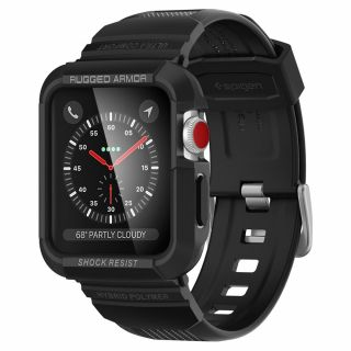 Spigen Rugged Armor Pro Apple Watch 42mm 1/2/3 tok és szíj
