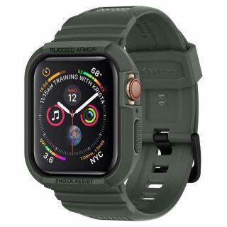 Spigen Rugged Armor Pro Apple Watch 44mm tok és szíj - zöld