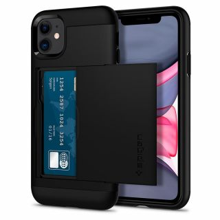 Spigen Slim Armor CS iPhone 11 tok - fekete