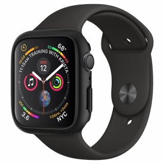 Spigen Thin Fit Apple Watch 40mm tok - fekete