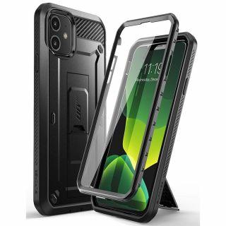 Supcase Unicorn Beetle iPhone 11 ütésálló tok előlappal - fekete