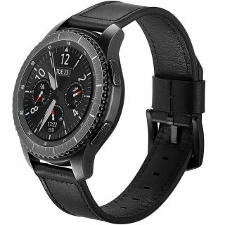 Tech-Protect Herms Samsung Galaxy Watch 3 41mm bőr szíj - fekete