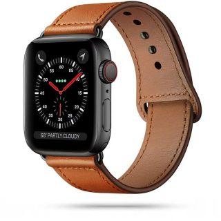 Tech-Protect Leatherfit Apple Watch 44mm / 42mm bőr szíj - barna