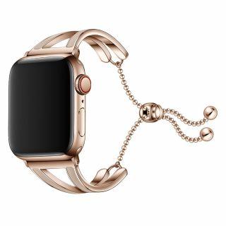 Tech-Protect Chainband Apple Watch 40mm / 38mm fém szíj - rozéarany