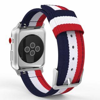 Tech-Protect Welling Apple Watch 44mm / 42mm textil szíj - kék/fehér/piros