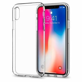Spigen Liquid Crystal iPhone XS/X tok - átlátszó