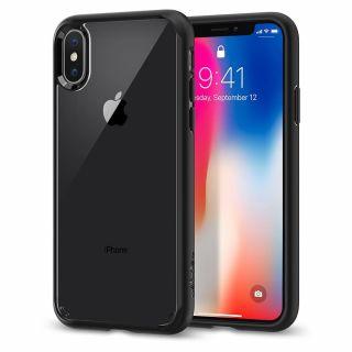 Spigen Ultra Hybrid iPhone XS/X tok - matt fekete