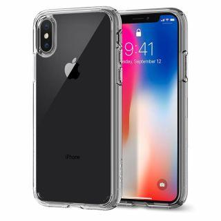 Spigen Ultra Hybrid iPhone XS/X tok - átlátszó