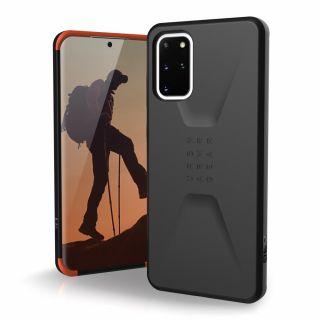 UAG Civilian Samsung Galaxy S20+ Plus ütésálló hátlap tok - fekete