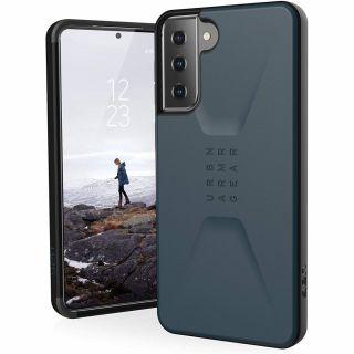 UAG Civilian Samsung Galaxy S21+ Plus ütésálló hátlap tok - kék