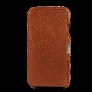 Vaja Agenda MG iPhone XS / X prémium kinyitható bőr tok - barna