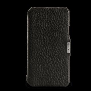 Vaja Agenda MG iPhone XS / X prémium kinyitható bőr tok - fekete