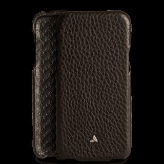 Vaja Top iPhone XS / X prémium kinyitható bőr tok - fekete