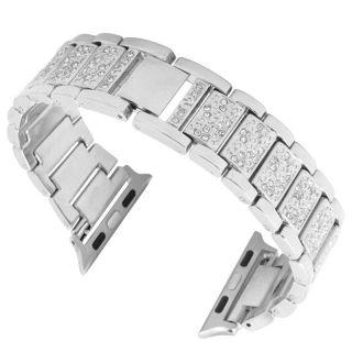 Watch 40mm / 38mm Diamond fém szíj - ezüst