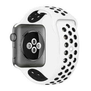 Watch 44mm / 42mm lélegző Sport szíj - fehér/fekete