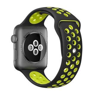 Watch 44mm / 42mm lélegző Sport szíj - fekete/zöld