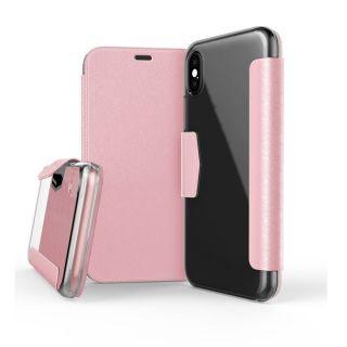 X-Doria Engage Folio iPhone X tok - rózsaszín