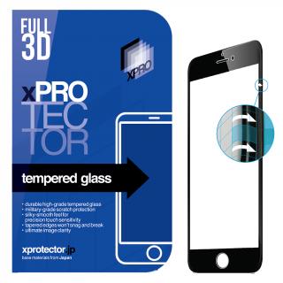 xPRO iPhone SE (2020) / 8 / 7 / 6s / 6 teljes kijelzővédő üveg 3D 0.33mm - fekete