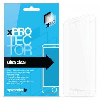 xPRO iPhone 6 Plus/6s Plus kijelzővédő fólia dupla (előre+3részes hátra) - fényes