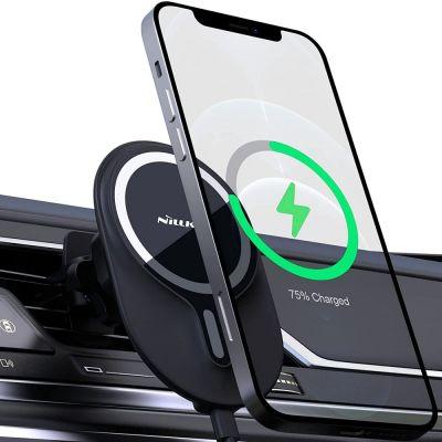 Nillkin Magsafe iPhone mágneses autós tartó és Qi töltő - szellőzőrácsos